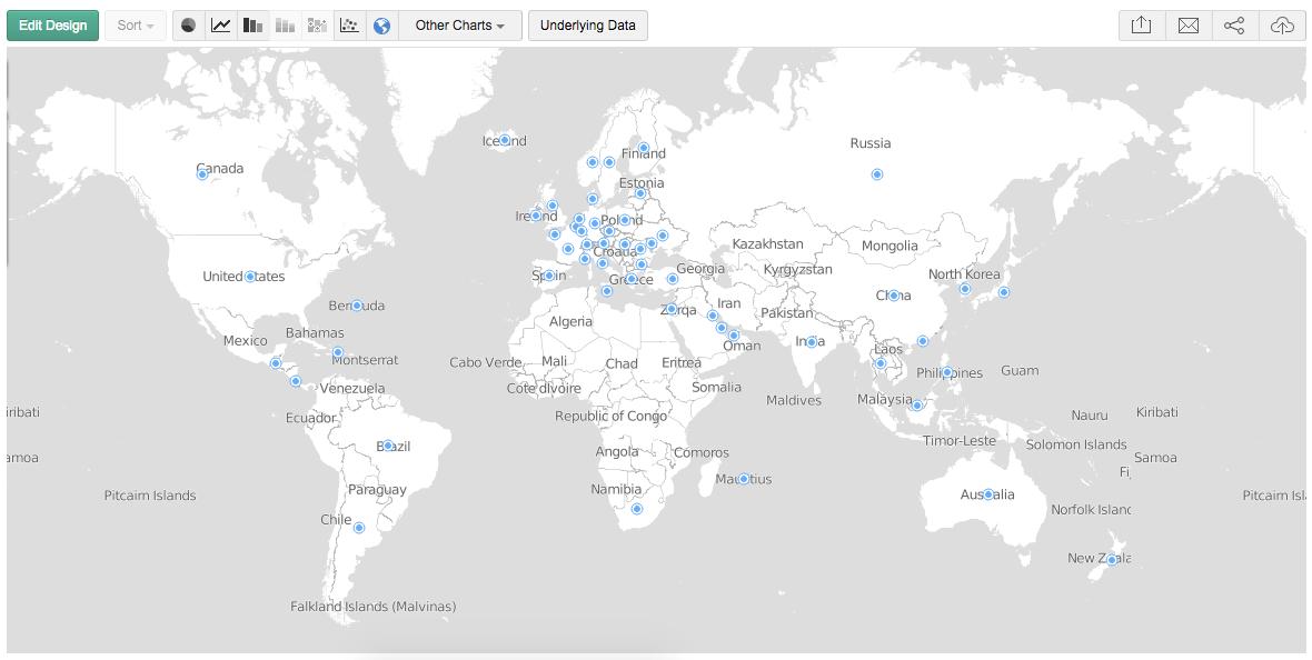 Nieuw: Map Charts voor Zoho Reports