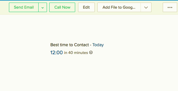 best time to contact Zoho SalesBridge 1