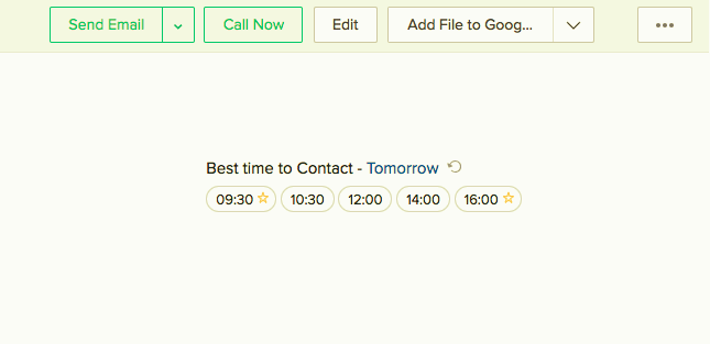 Best time to Contact Tomorrow in Zoho CRM